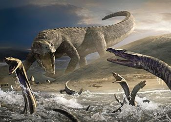 Нападение динозавров