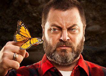 Ник Офферман с бабочкой
