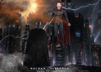 Постер Бэтмена против Супермена