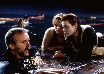 Кадр со съёмок Титаника