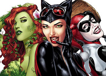 catwoman poison ivy and harley quinn