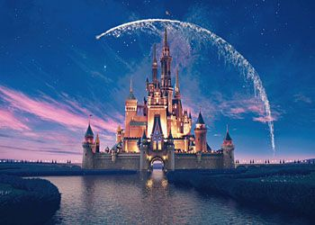 Замок Золушки в парке Walt Disney